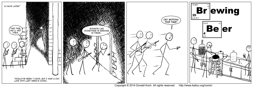 And this is why I was late with today's comic. Really.