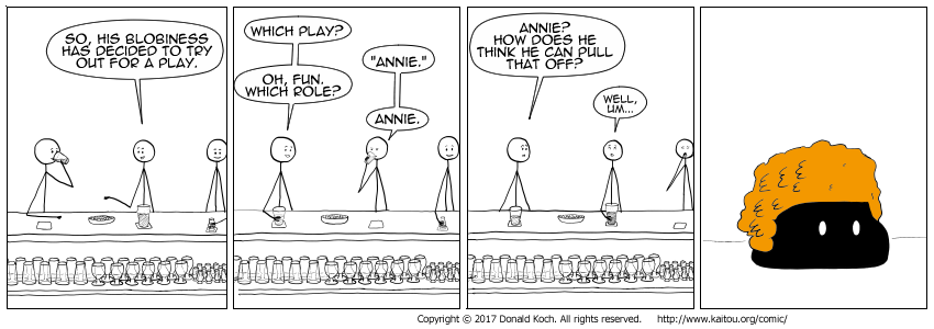 He didn't get the part of Annie. They gave him the part of Sandy, instead.